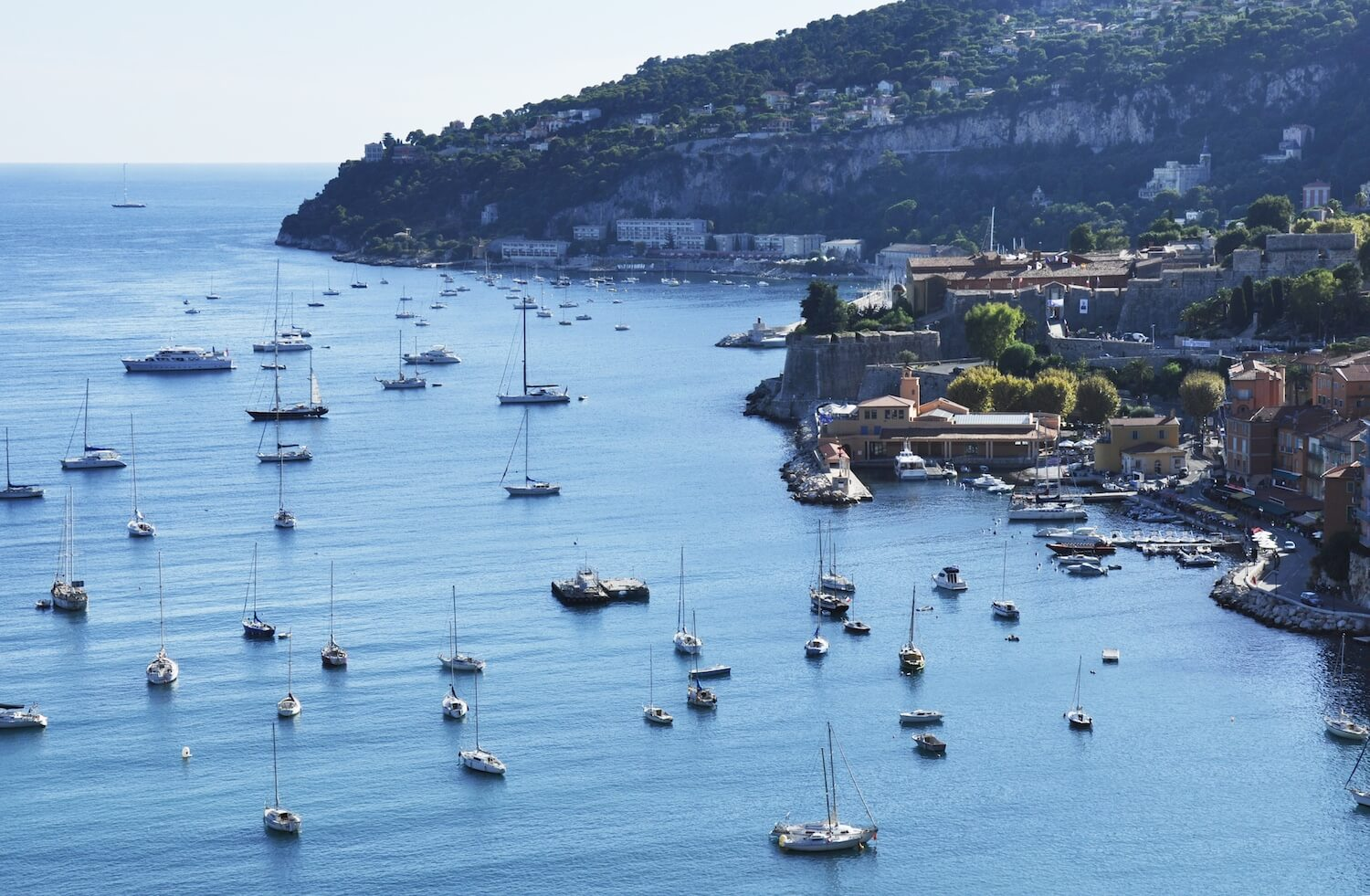 Driving Along The French Riviera. A Road Trip Dream