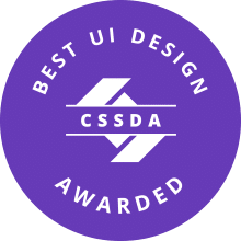 CSS Design Awards Best UI Design Award