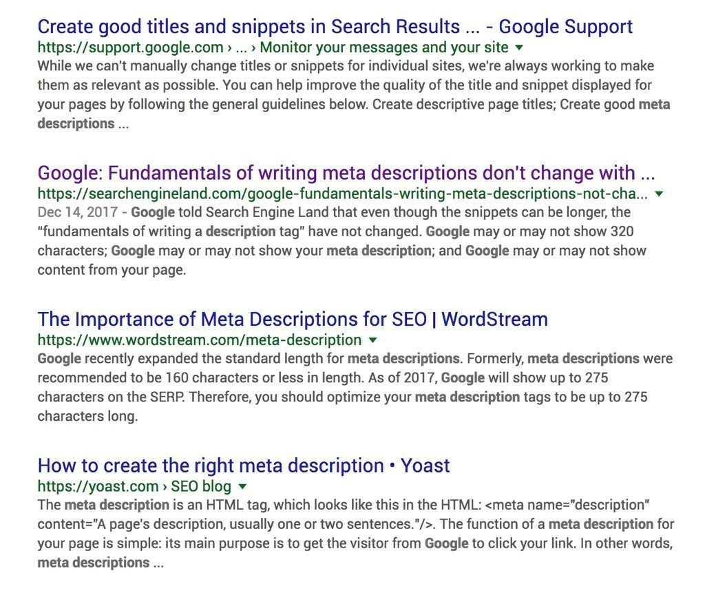 Longer Meta Descriptions Google