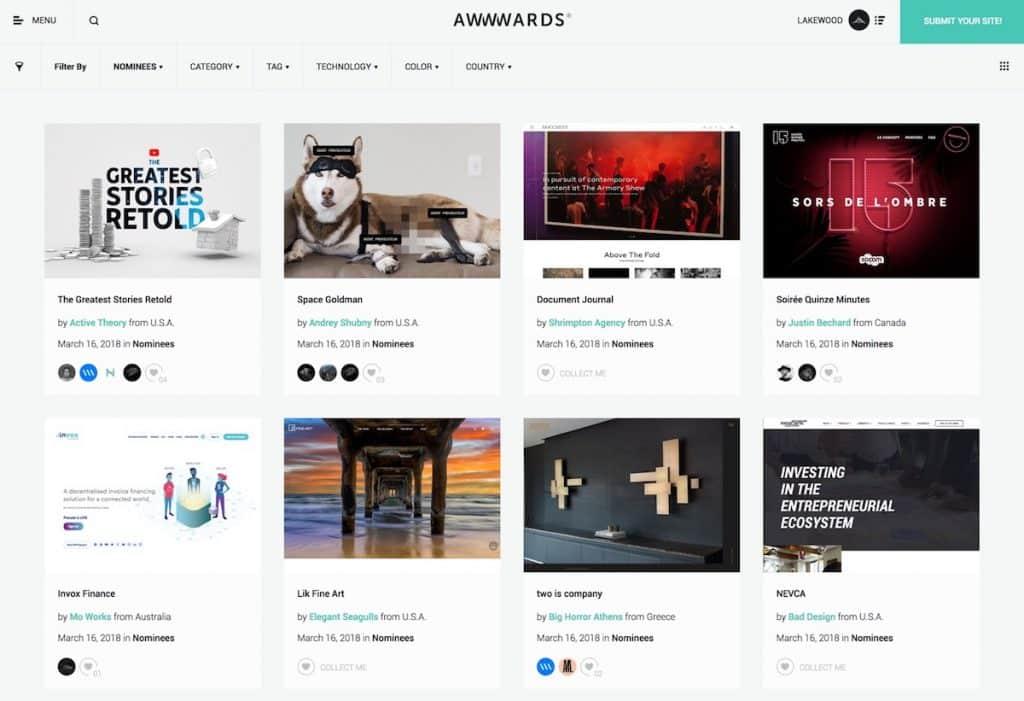 Awwwards CSS Gallery